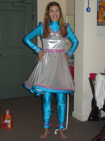 Cheryl E.'s Space Girl Costume