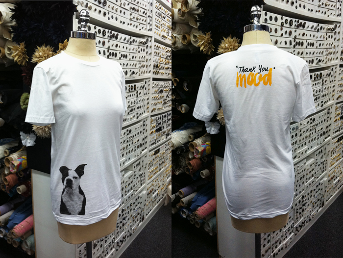 Swatch T-Shirt on Dress Form