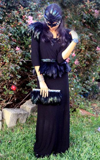 Sarah R.'s Raven Costume