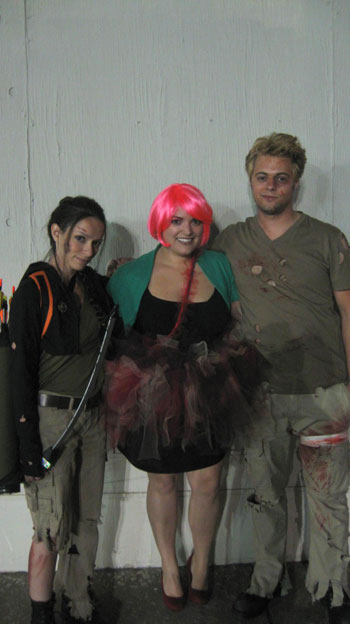 Ellen T (center) Effie Trinket from The Hunger Games Costume