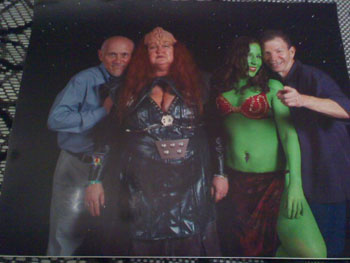 Pamela H's Klingon and Orion Slave Girl Costumes
