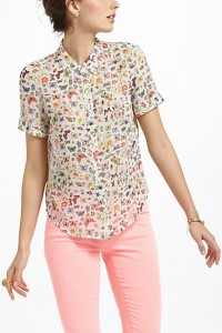 Anthropologie Entomologist Blouse