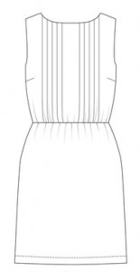 Salme Pleated Front Dress