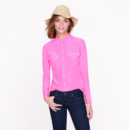 Blythe silk top available at J. Crew.