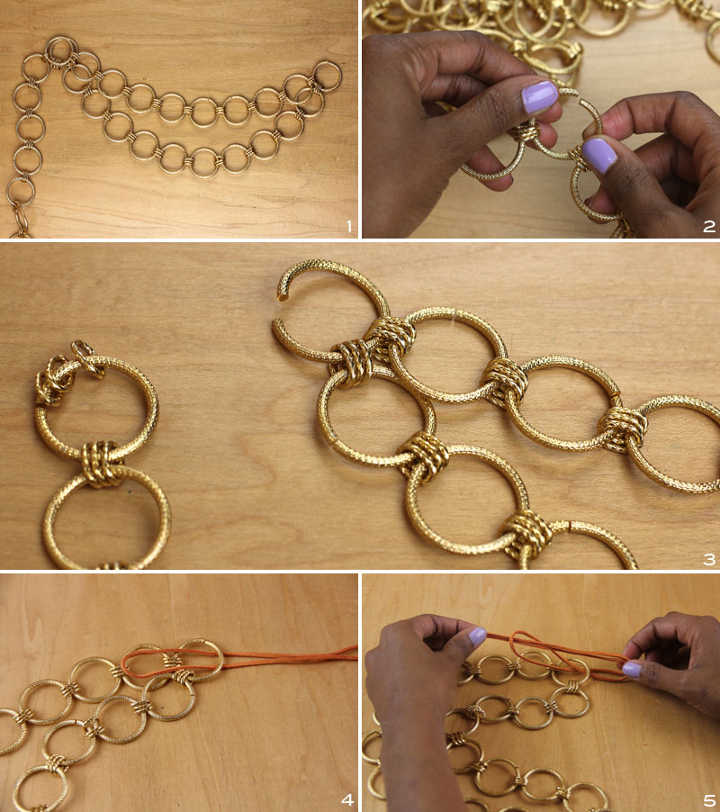 Gold Ring Necklace 3