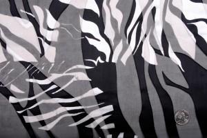 Zebra print silk blend burnout