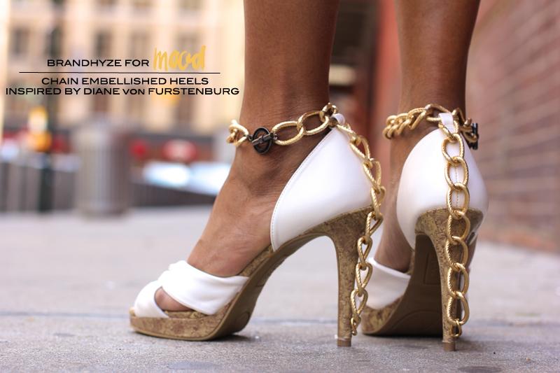 Chain Embellished Heels Inspired by Diane von Furstenberg 1