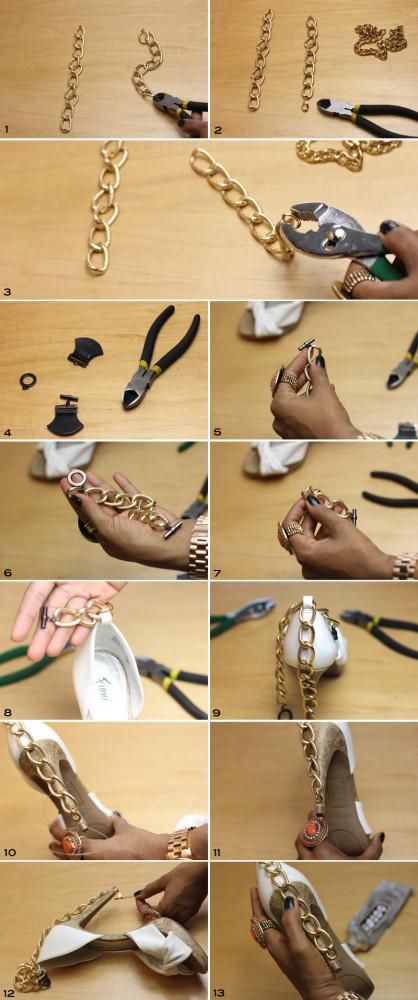 Chain Embellished Heels Inspired by Diane von Furstenberg 4