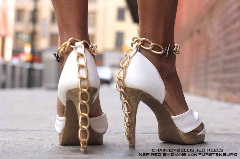 Chain Embellished Heels Inspired by Diane von Furstenberg 6