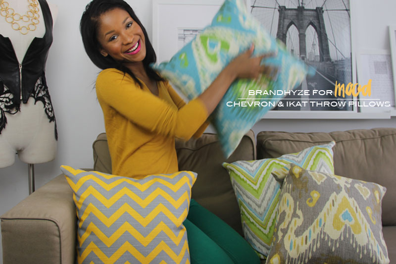 Chevron and Ikat Throw Pillows 1