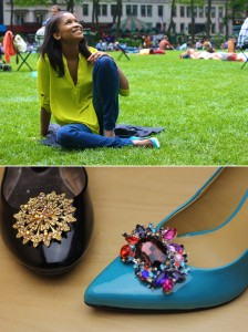 Jeweled Shoe Clip 2