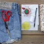 Sequin Designed Denim Shorts 3