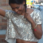 Sequined Backless Crop Top Inspired by Rihanna 1