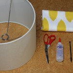 Fabric Covered Lampshade 2