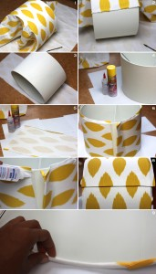 Fabric Covered Lampshade 3