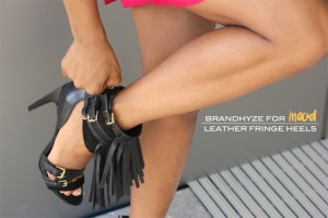 Leather Fringe Heels 1