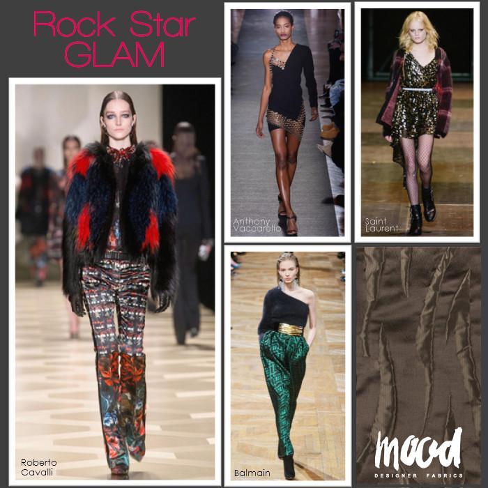 Rock Star Glam fabrics trend