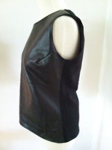Leather and ponte vest