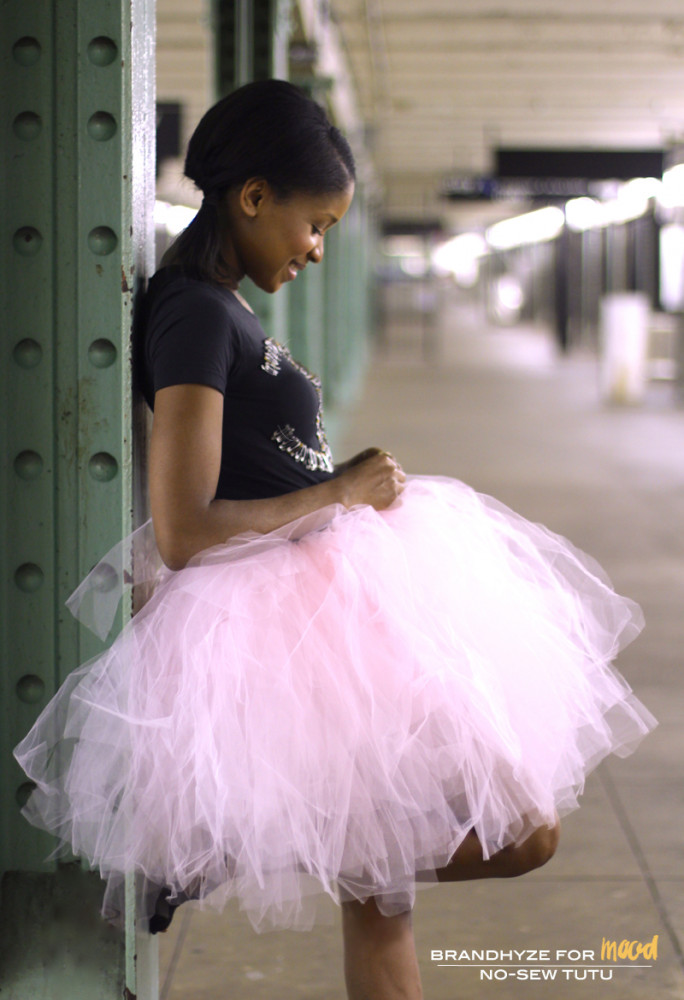 Mood Diy No Sew Tutu Skirt Sewciety