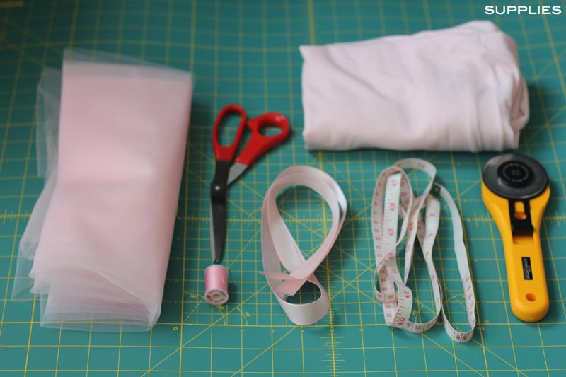 No-Sew Tutu pink tulle Mood Fabrics