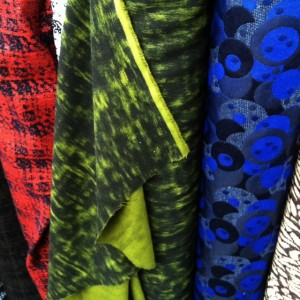 Oscar de la Renta wool print from Mood Fabrics NYC