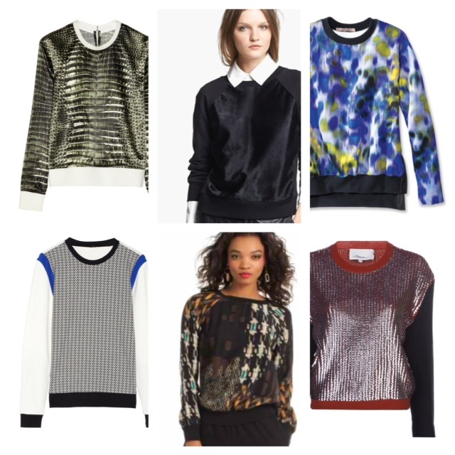 luxe sweatshirts collage