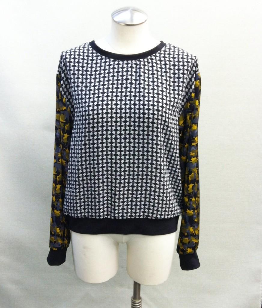 silk sweatshirt Mood Fabrics