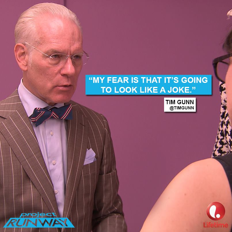 Tim Gunn, Project Runway fashion mentor.
