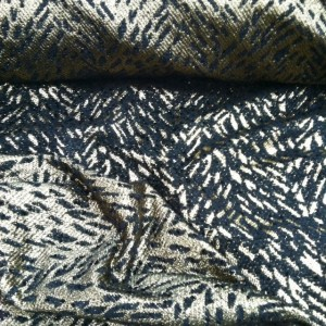 Black and gold metallic Italian brocade from Mood Fabrics NYC.
