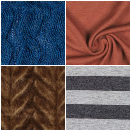 Fabrics from Mood Fabrics that work well for infinity scarves.