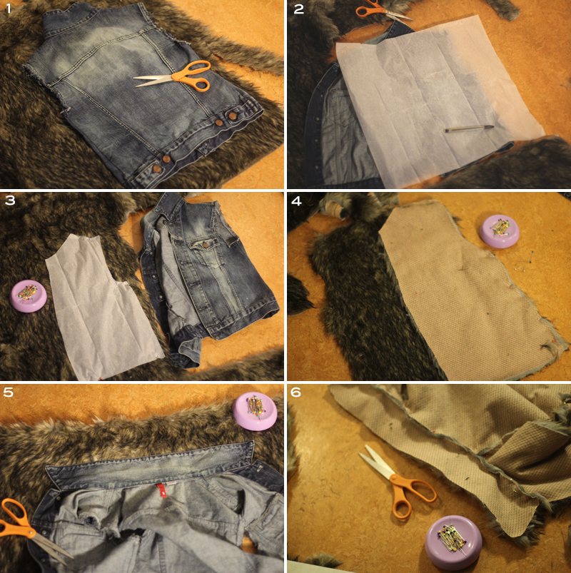 Vest made with faux fur from Mood Fabrics NYC.
