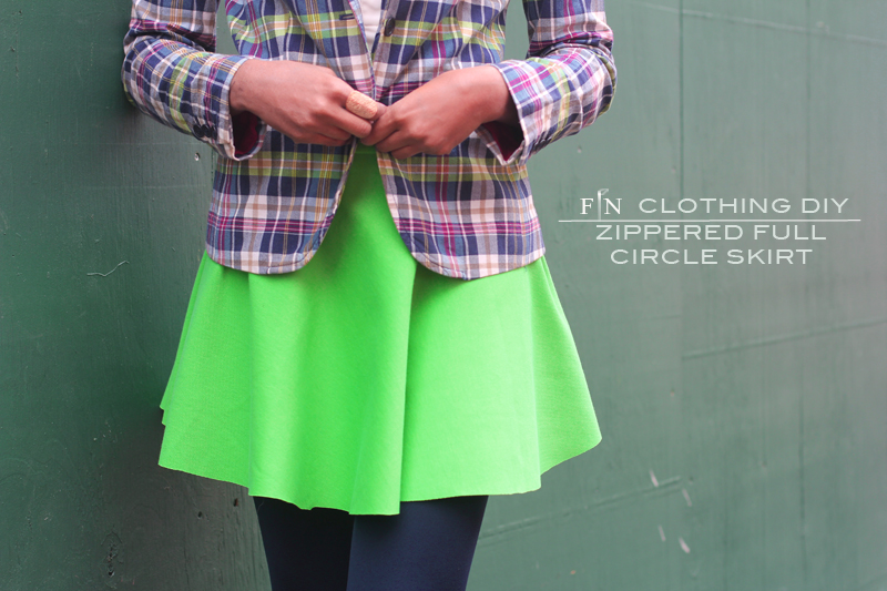 Zippered Full Circle Skirt 6A