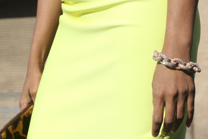 Neoprene One Shoulder Dress 5B