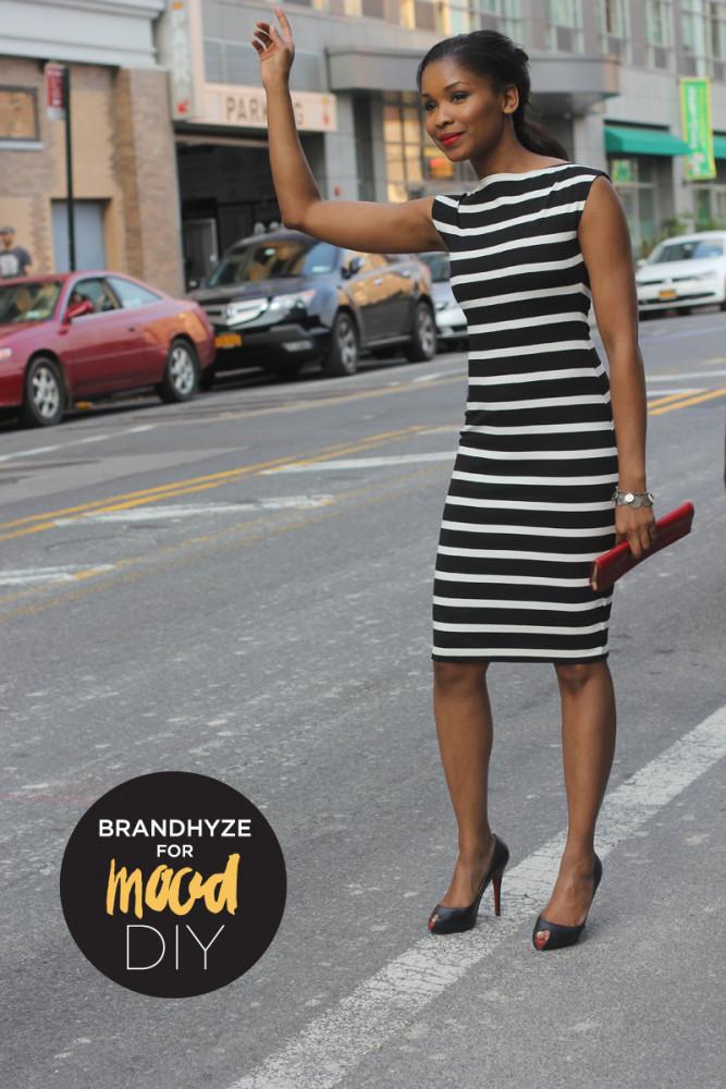 Striped Boat Neck Dress 1