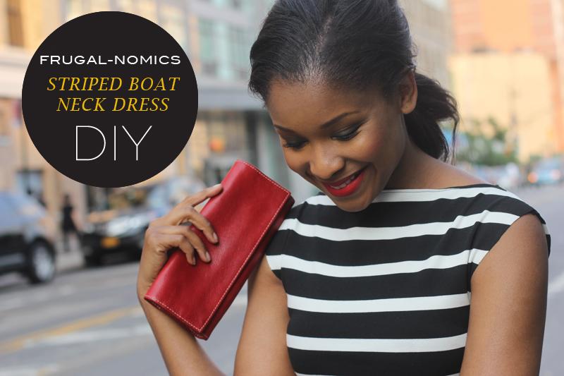 French Stripe Boat Neck Dress 5