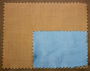 Duopioni featured in Pale Gold;Shantung featured in Pale Blue