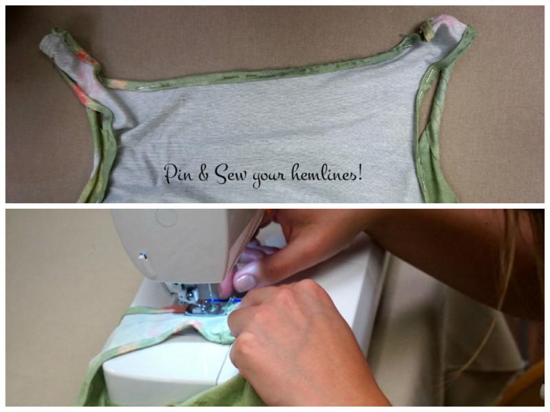 Pin and Sew hem