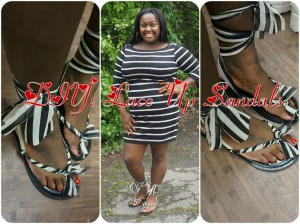 DIY: Lace Up Sandals