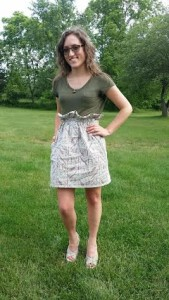 Paper Bag Skirt w/ Pockets