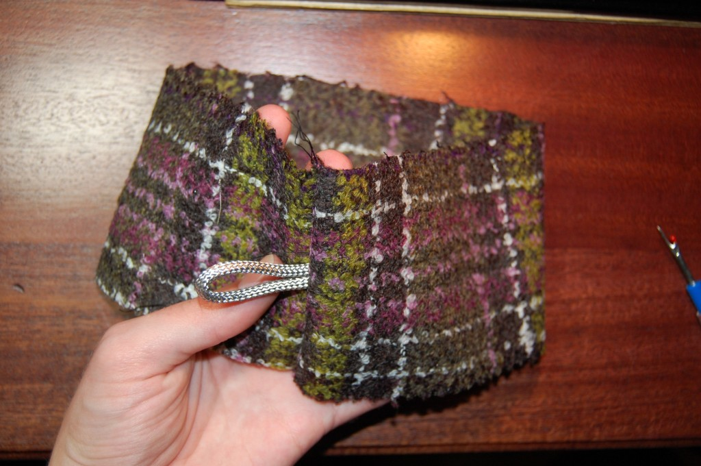 Stich gusset into the round, I added the bolo cord int the seam for a trailer hitch.