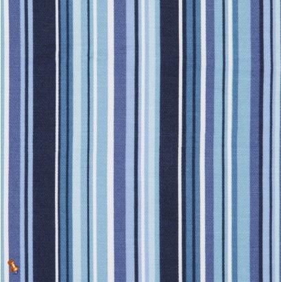 Multicolor Blue Bar Code Striped Cotton-Lycra Woven