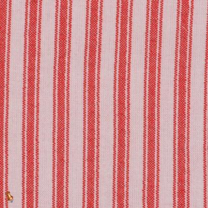 Red Ticking Striped Cotton Seersucker