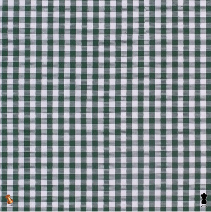 Forest Green Textured Gingham Cotton Shirting