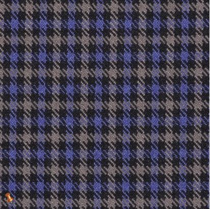 Black, Blue and Gray Sheperd's Check Poly-Lycra Woven