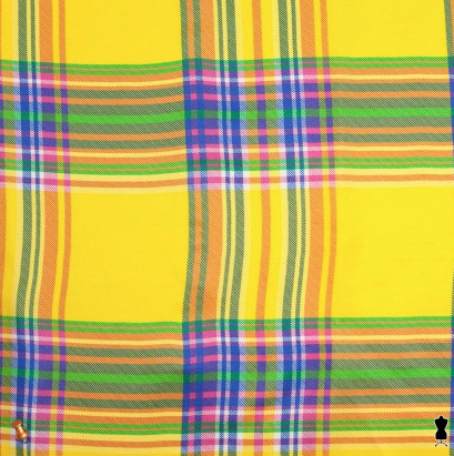 Ralph Lauren Multicolor Madras Plaid Silk Shantung