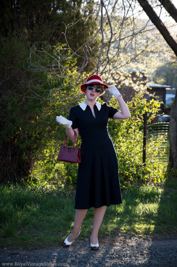 1940s Agent Carter dress made with Mood fabrics - by American Duchess