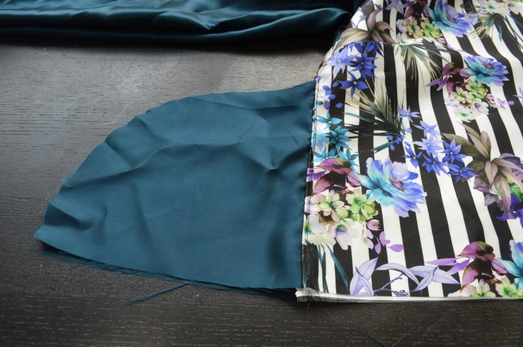sewing reversible bomber jacket