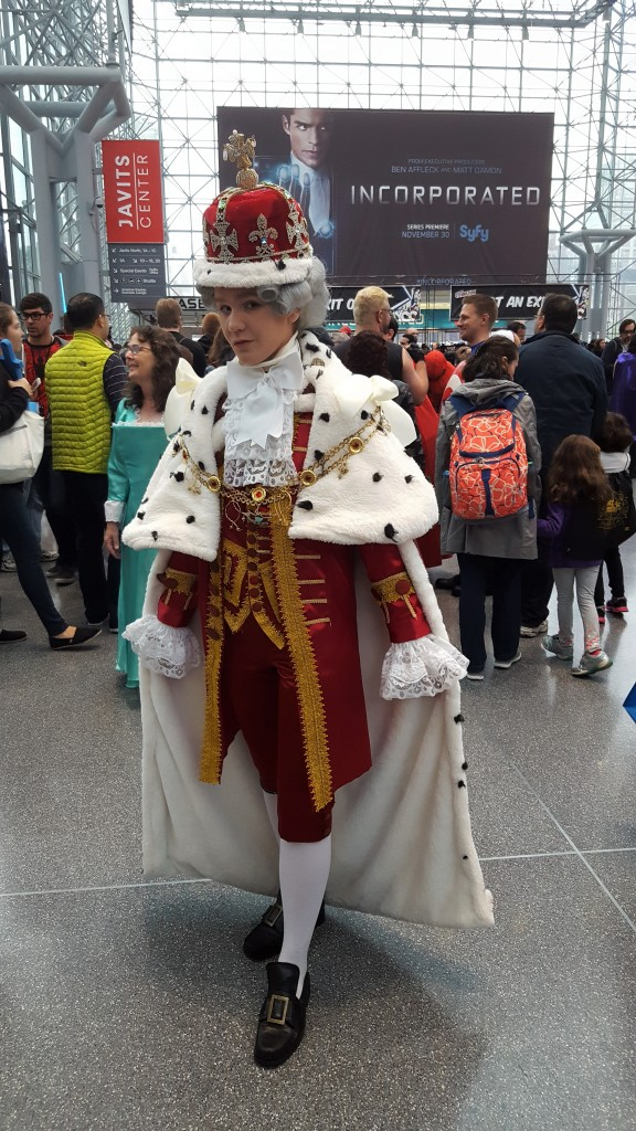 hamilton king george cosplay nycc