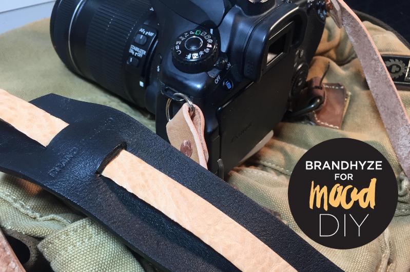 2 Tone Leather Camera Strap1