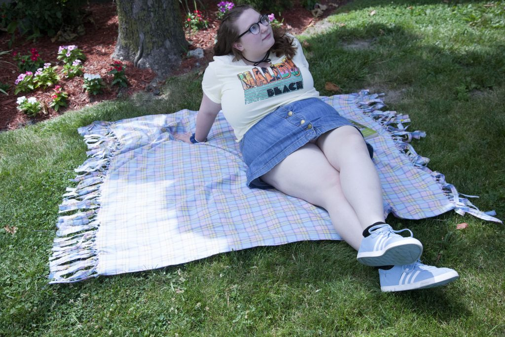 Gotta stay in the shade cause of my wimpy, pale skin.